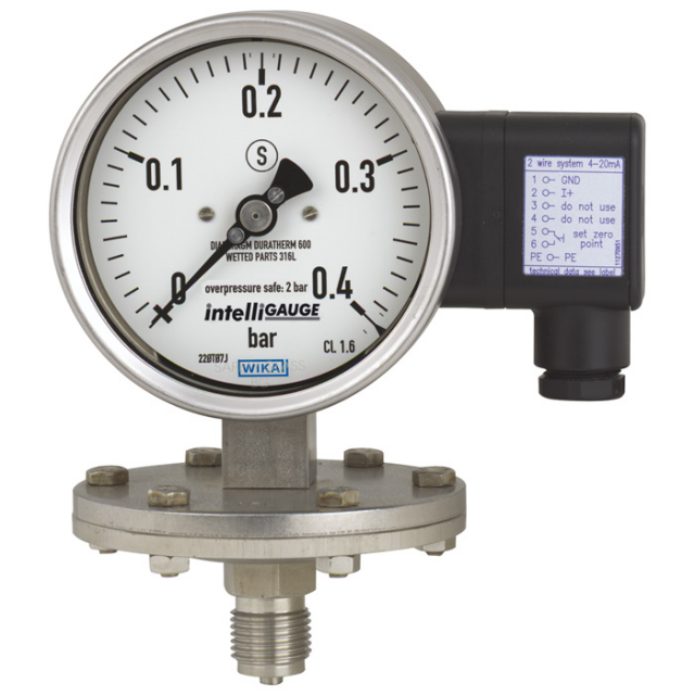WIKA PGT43 Pressure Gauges with Electrical Output Signal