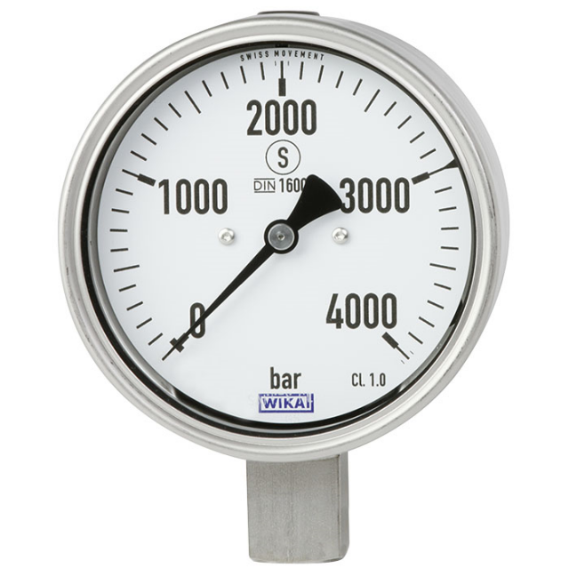 WIKA_PG23HP-P_Bourdon_Tube_Pressure_Gauge