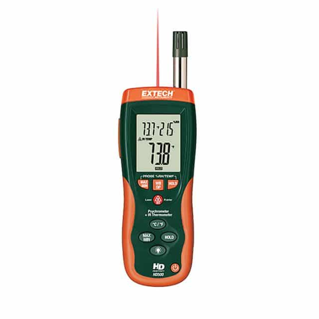 Extech-HD500-Psychrometer-with-InfraRed-Thermometer