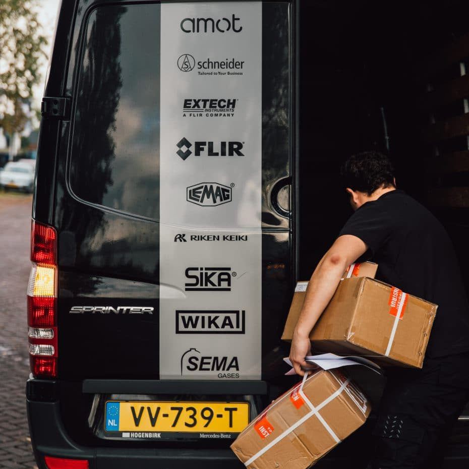 GMS_Instruments_Delivery_Van_Being_Packed