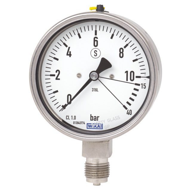 WIKA 232.36 /233.36 Bourdon Tube Pressure Gauge