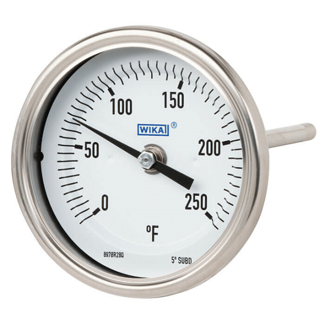 WIKA TG53 Bimetal Thermometer Axial connection