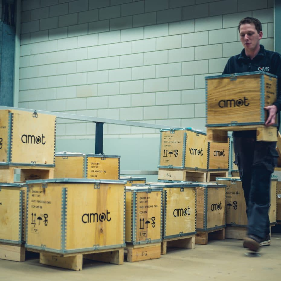 GMS-Instruments man employee walking AMOT valve box