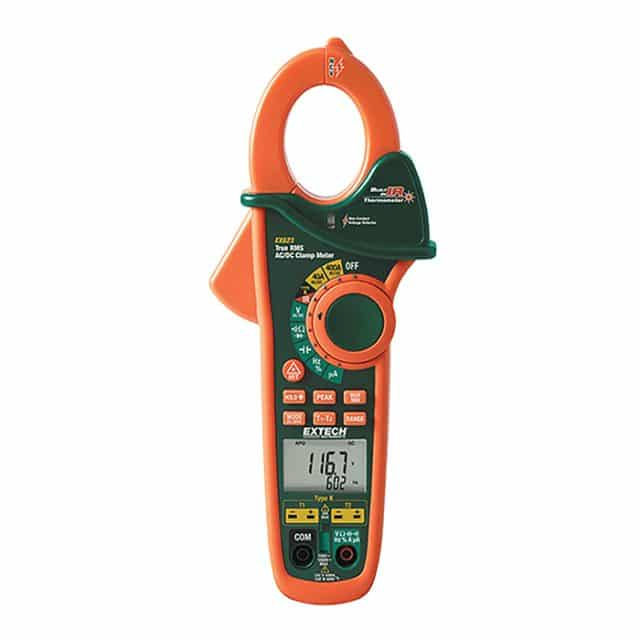 Extech-EX623-Clamp-Meter-NCV-IR-Thermometer